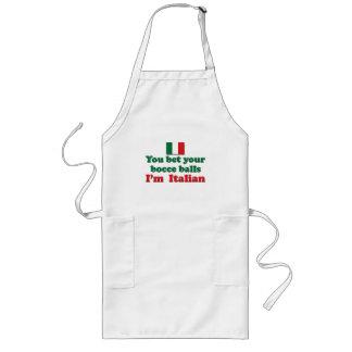 Bolas de Bocce del italiano Delantal