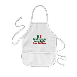 Bolas de Bocce del italiano Delantal Infantil