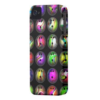 Bolas de bolos coloridas iPhone 4 carcasas