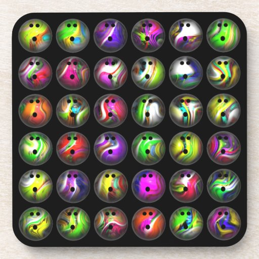 Bolas de bolos coloridas posavasos de bebidas