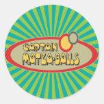 BOLAS de capitán MATZA Pegatinas Redondas