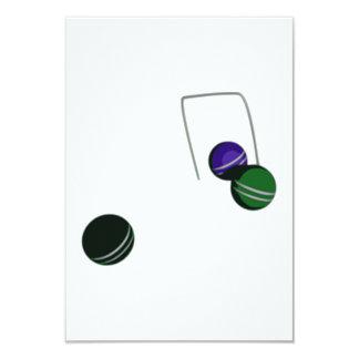 """Bolas de croquet invitación 3.5"""" x 5"""""""