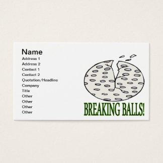 Bolas de desempate tarjetas de visita