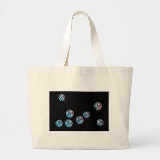 bolas de discoteca en espacio vacío bolsa lienzo