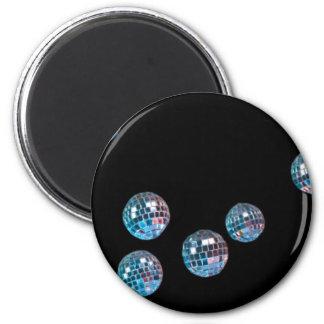 bolas de discoteca en espacio vacío imán redondo 5 cm