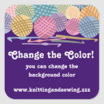 Bolas de encargo del color de las etiquetas de los calcomanias cuadradas