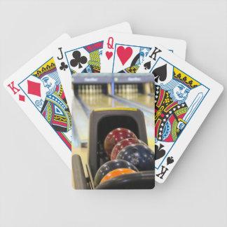 Bolas de la bolera y de bolos baraja de cartas
