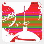 Bolas de la decoración del navidad calcomanías cuadradas personalizadas