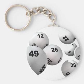 Bolas de la lotería llavero redondo tipo pin