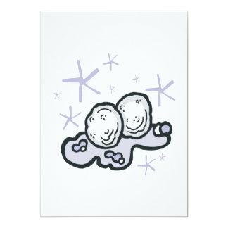 Bolas de la nieve invitación 12,7 x 17,8 cm