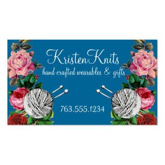 Bolas de la tarjeta de los rosas del vintage de tarjetas de visita