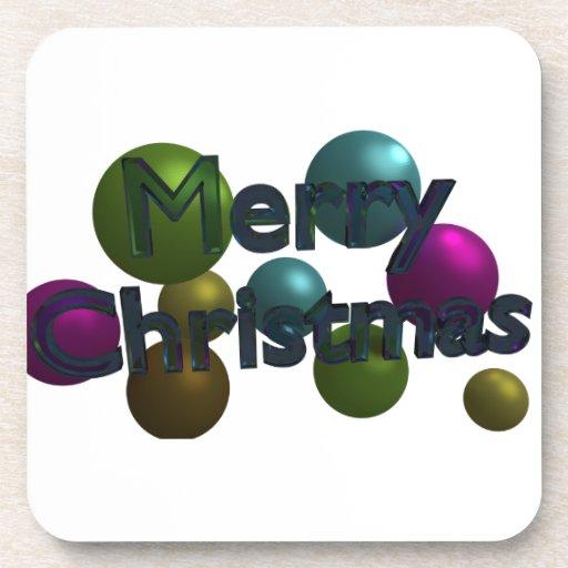 Bolas de las Felices Navidad Posavasos