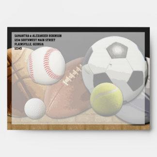 Bolas de los deportes de All Star con la pared de Sobres