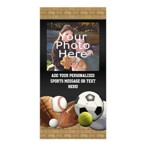 Bolas de los deportes de All Star con la pared de Tarjetas Fotograficas