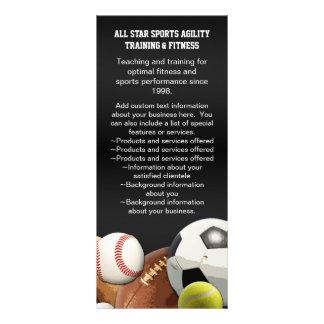 Bolas de los deportes de All Star con la pared de Tarjeta Publicitaria Personalizada