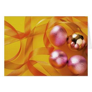 Bolas de los tintineos de los cascabeles tarjeta de felicitación