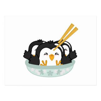Bolas de masa hervida del pingüino del iceberg postal