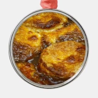 Bolas de masa hervida del queso adorno redondo plateado