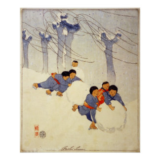 Bolas de nieve de Bertha Boynton Lum Póster