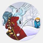 ¡Bolas de nieve! Pegatinas Redondas
