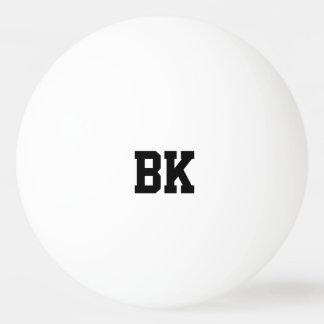 Bolas de ping-pong iniciales cones monograma pelota de ping pong
