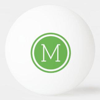 Bolas de ping-pong personalizadas monograma verde pelota de ping pong