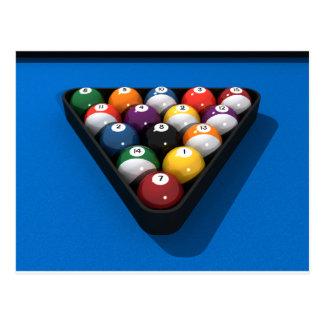Bolas de piscina en el azul sentido: postales