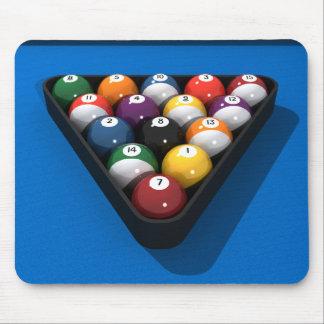 Bolas de piscina en el azul sentido: tapete de ratones