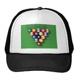 Bolas de piscina en el verde sentido: gorras de camionero