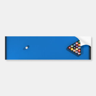 Bolas de piscina en la tabla de billares del fielt pegatina para auto