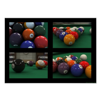 bolas de piscina póster