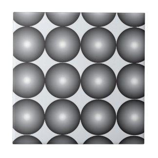 Bolas de plata y grises de alta tecnología azulejo cuadrado pequeño