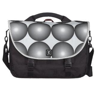 Bolas de plata y grises de alta tecnología bolsas para portatil