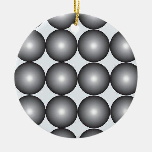 Bolas de plata y grises de alta tecnología adornos de navidad