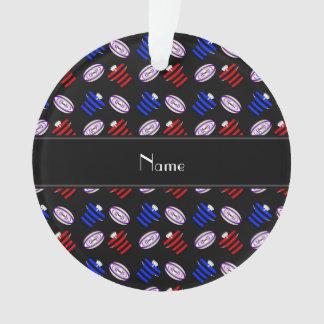 Bolas de rugbi negras conocidas personalizadas de