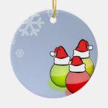 Bolas de Santa Ornamento De Navidad