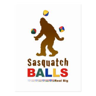 Bolas de Sasquatch Tarjetas Postales