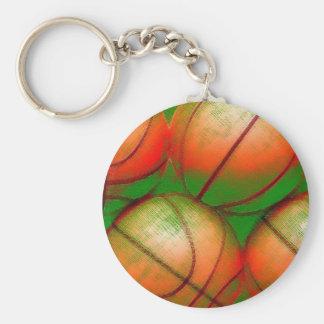 Bolas del baloncesto llavero redondo tipo pin