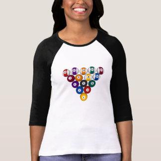 Bolas del billar/de piscina - señoras 3/4 raglán d camisetas