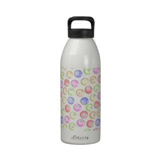 Bolas del bingo botella de beber