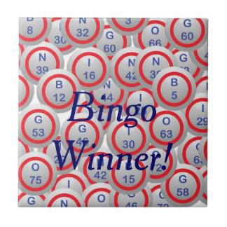 Bolas del bingo azulejo cuadrado pequeño
