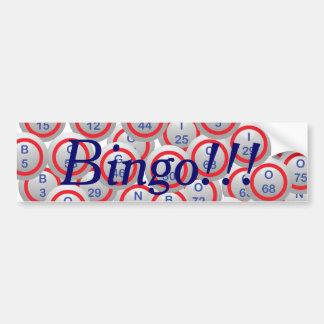Bolas del bingo pegatina para auto