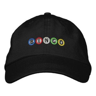 Bolas del bingo gorras bordadas