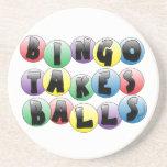 Bolas del bingo posavasos personalizados