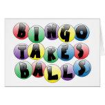 Bolas del bingo tarjetas