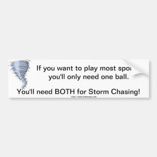 Bolas del cazador de la tormenta del tiempo de la  pegatina para auto
