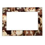 Bolas del chocolate y de la torta blanca marcos magneticos de fotos
