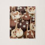 Bolas del chocolate y de la torta blanca rompecabezas