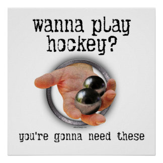 Bolas del hockey poster