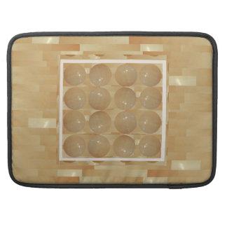 Bolas del mármol de ÓNIX - joyas de oro del trigo Funda Para Macbooks